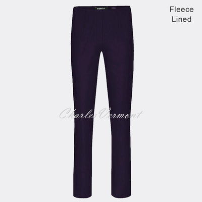 Robell Marie – Full Length Trouser 51412-54025-591 – Fleece Lined (Dark Purple)
