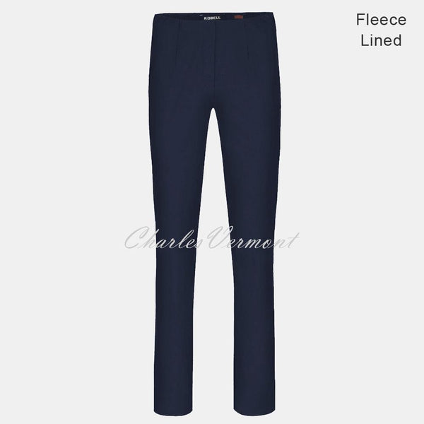 Robell Marie Full Length Trouser 51412-54025-69 - Fleece Lined (Navy)