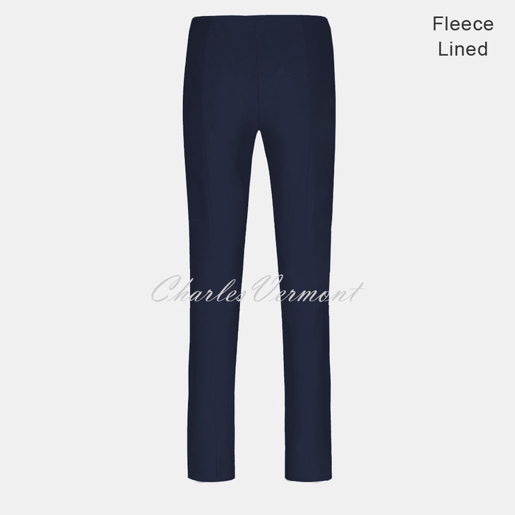 Robell Marie Trouser 51412-54025-69 – Fleece Lined (Navy) – SHORTER LENGTH