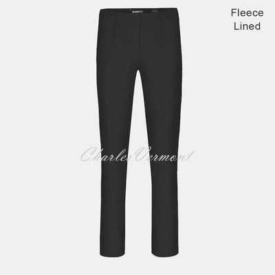 Robell Marie Trouser 51412-54025-90 – Fleece Lined (Black) – SHORTER LENGTH