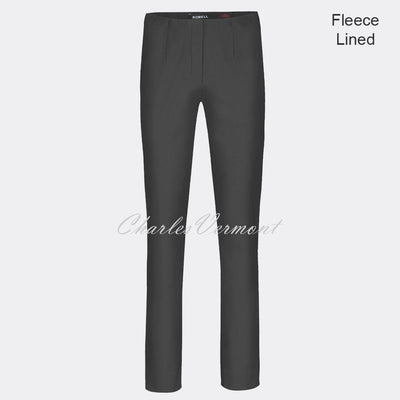 Robell Marie Full Length Trouser 51412-54025-97 - Fleece Lined (Anthracite)