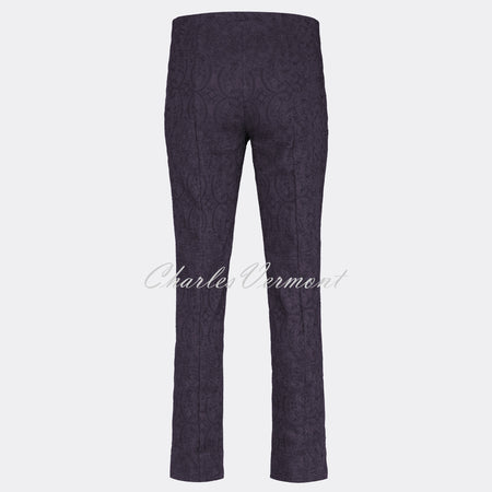 Robell Marie Full Length Trouser 51412-54145-591 (Wine Jacquard)