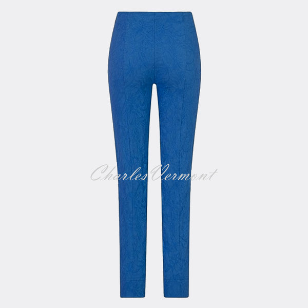Robell Marie - Full Length Trouser 51412-54401-67 (Royal Blue Jacquard)