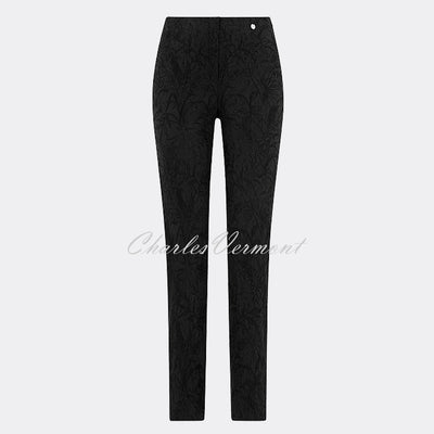 Robell Marie - Full Length Trouser 51412-54401-90 (Black Jacquard)