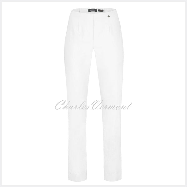 Robell Marie Full Length Trouser 51412-5499-10 (White)