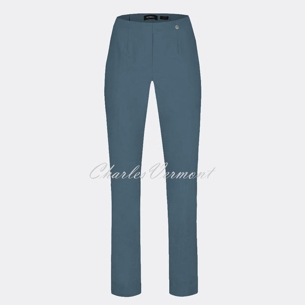 Robell Marie Full Length Trouser 51412-5499-64 (Steel Blue)
