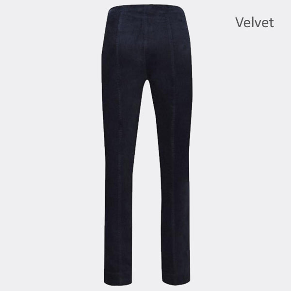 Robell Marie Full Length Trouser 51414-54362-691 (Navy Velvet)