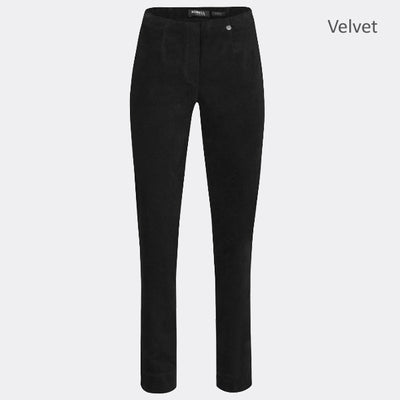 Robell Marie Full Length Trouser 51414-54362-90 (Black Velvet)