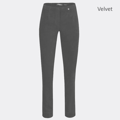 Robell Marie Full Length Trouser 51414-54362-95 (Grey Velvet)