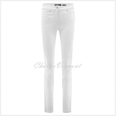 Robell Elena Full Length Jean 51455-5448-10 (White)