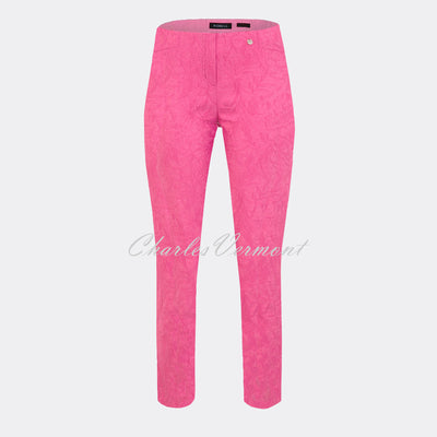 Robell Rose 09 – 7/8 Cropped Super Slim Trouser 51527-54401-430 (Pink Jacquard)