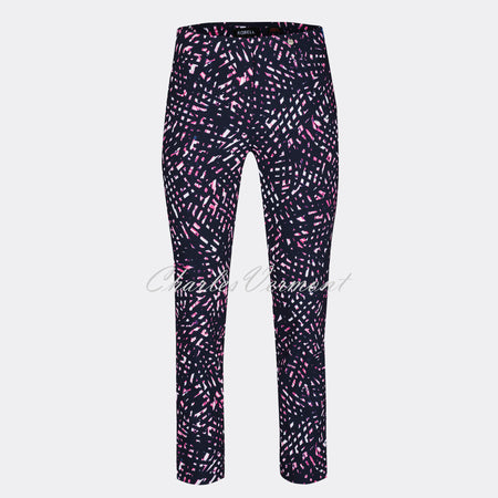 Robell Rose 09 - 7/8 Cropped Trouser 51527-54558-69 (Abstract Print)
