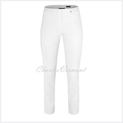 Robell Rose 09 – 7/8 Cropped Super Slim Trouser 51527-5499-10 (White)