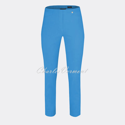 Robell Rose 09 - 7/8 Cropped Super Slim Trouser 51527-5499-600 (Azure Blue)