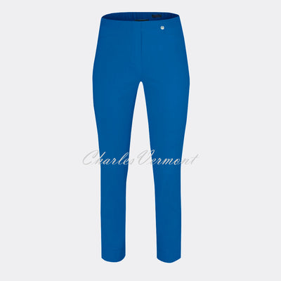 Robell Rose 09 - 7/8 Cropped Trouser Super Slim Trouser 51527-5499-67 (Royal Blue)