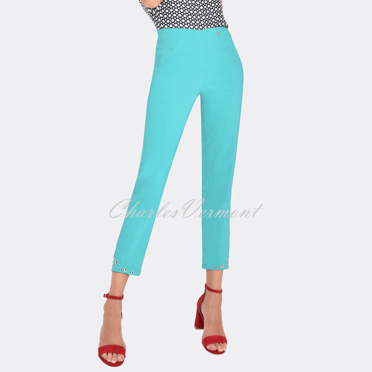Robell Bella 09 – 7/8 Cropped Trouser 51545-5499-750 (Pacific Turquoise)