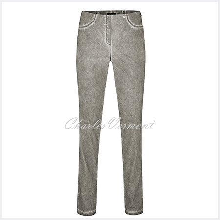 Robell Bella Full Length Trouser 51559-54120-95 (Grey - Washed Effect)