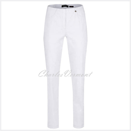 Robell Bella Full Length Trouser 51559-5499-10 (White)