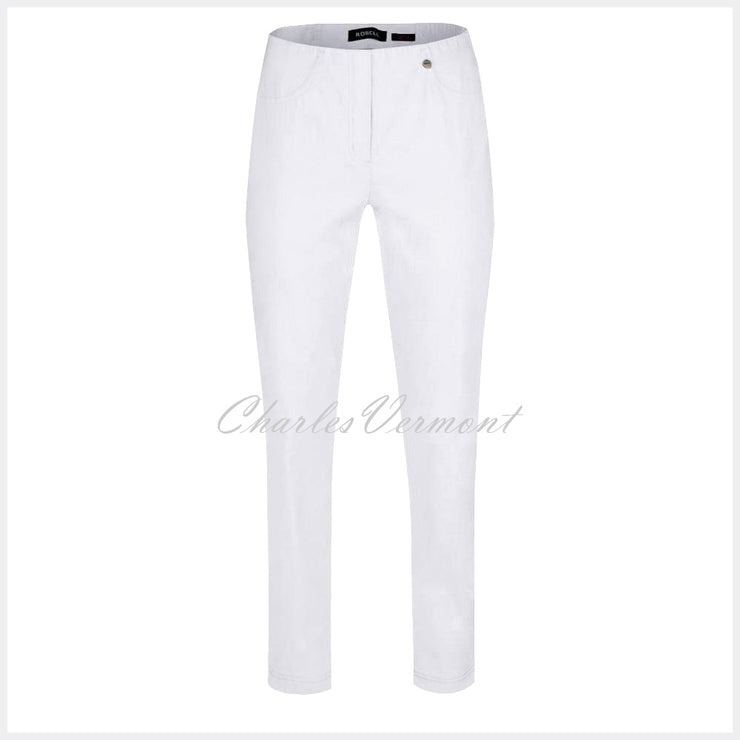 Robell Bella Trouser 51559-5499-10 (White) – SHORTER LENGTH 29""