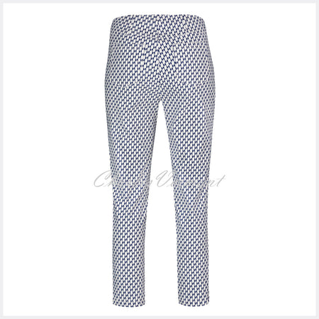 Robell Bella 09 - 7/8 Cropped Trouser 51560-54381-69 (Geometric Print)
