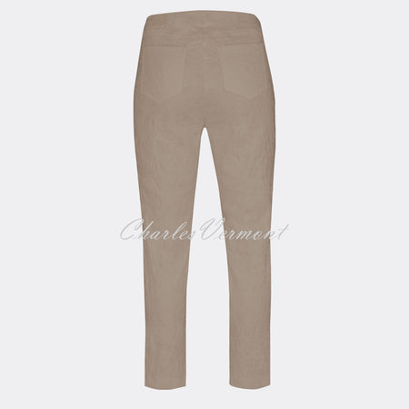 Robell Bella 09 - 7/8 Cropped Trouser 51560-54401-13 (Light Taupe Jacquard)