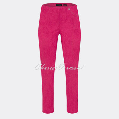 Robell Bella 09 - 7/8 Cropped Trouser 51560-54401-43 (Pink Jacquard)