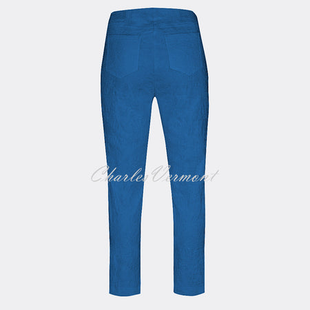 Robell Bella 09 - 7/8 Cropped Trouser 51560-54401-67 (Royal Blue Jacquard)