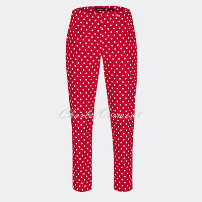Robell Bella 09 - 7/8 Cropped Slim Fit Trouser 51560-54570-40 (Red)