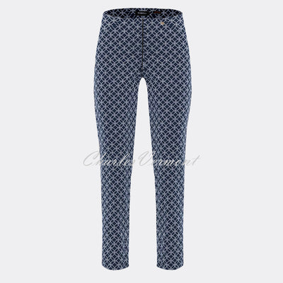 Robell Bella 09 - 7/8 Cropped Trouser 51560-54737-69 (Navy)