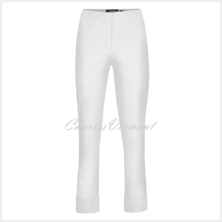 Robell Bella 09 - 7/8 Cropped Trouser 51568-5499-10 (White)