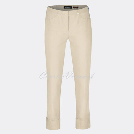 Robell Bella 09 - 7/8 Cropped Trouser 51568-5499-14 (Beige)