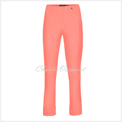 Robell Bella 09 – 7/8 Cropped Trouser 51568-5499-320 (Bright Peach)