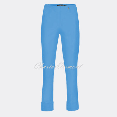Robell Bella 09 - 7/8 Cropped Trouser 51568-5499-600 (Azure Blue)