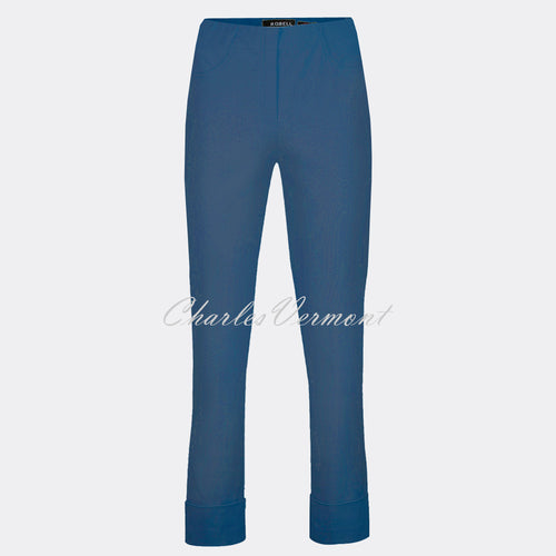 Robell Bella 09 - 7/8 Cropped Trouser 51568-5499-68 (Denim Blue)