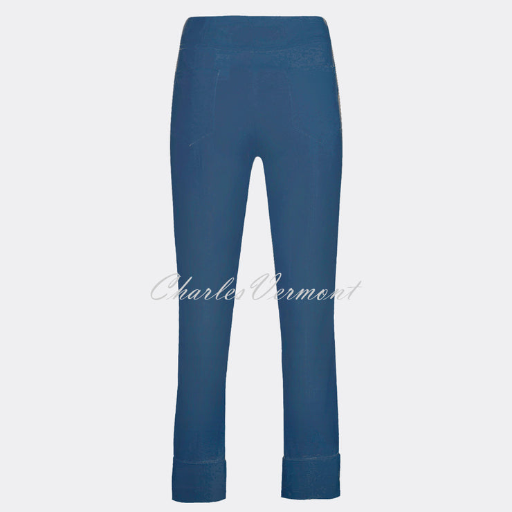 Robell Bella 09 - 7/8 Cropped Trouser 51568-5499-68 (French Navy)