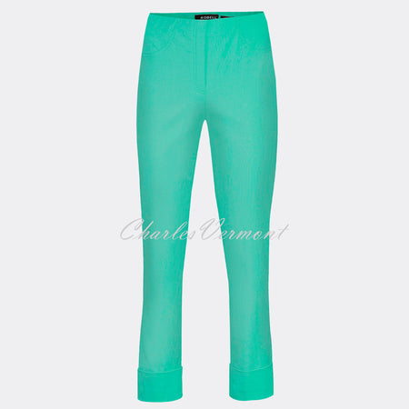 Robell Bella 09 - 7/8 Cropped Trouser 51568-5499-720 (Aqua Green)