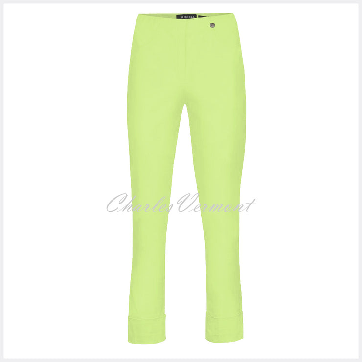 Robell Bella 09 – 7/8 Cropped Trouser 51568-5499-810 (Lime Green)