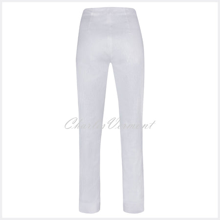 Robell Marie Full Length Trouser 51593-54167-10 (White Jacquard)