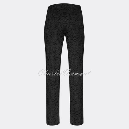 Robell Marie Full Length Trouser 51593-54167-90 (Black Jacquard)