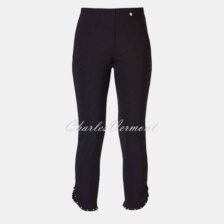 Robell Rose 09 – 7/8 Cropped Trouser 51621-5499-90 (Black)