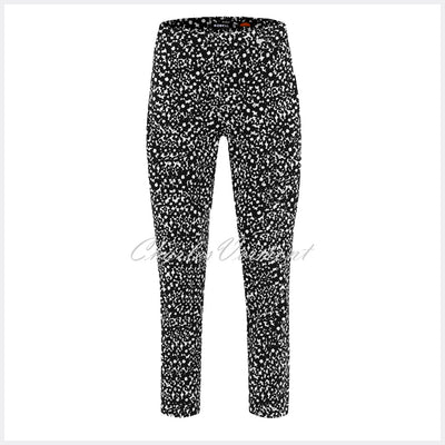 Robell Rose 09 – 7/8 'Daisy Print' Cropped Trouser 51622-54846-90
