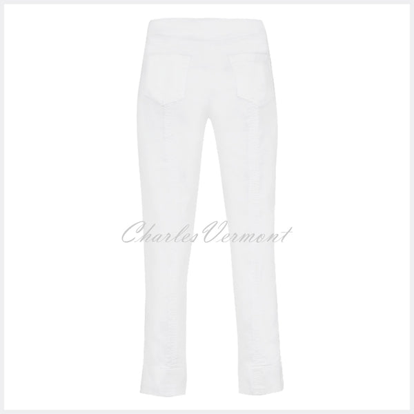 Robell Bella 09 - 7/8 Cropped Jean 51628-5448-10 (White Denim)