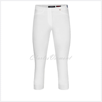 Robell Rose 07 Super Slim Capri Trouser 51636-5499-10 (White)
