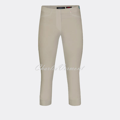 Robell Rose 07 Super Slim Capri Trouser 51636-5499-13 (Light Taupe)