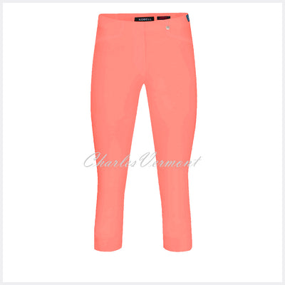 Robell Rose 07 Super Slim Capri Trouser 51636-5499-320 (Bright Peach)