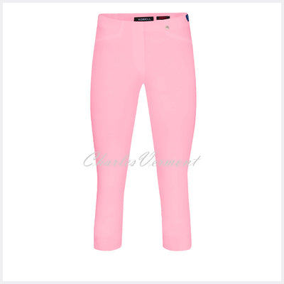 Robell Rose 07 Super Slim Capri Trouser 51636-5499-410 (Soft Rose)
