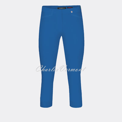 Robell Rose 07 Super Slim Capri Trouser 51636-5499-67 (Royal Blue)