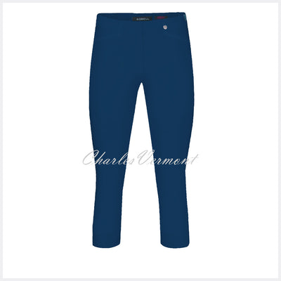 Robell Rose 07 Super Slim Capri Trouser 51636-5499-68 (French Navy)
