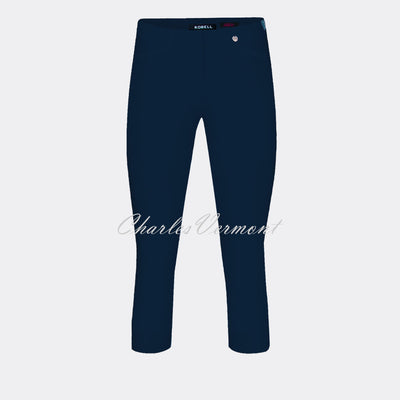 Robell Rose 07 Super Slim Capri Trouser 51636-5499-69 (Navy)