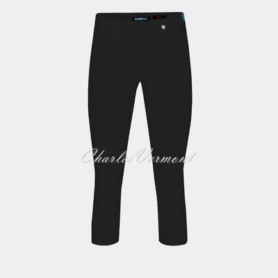 Robell Rose 07 Super Slim Capri Trouser 51636-5499-90 (Black)